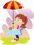 Afternoon tea royalty free illustration