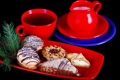 Afternoon Tea with Biscuits Royalty Free Stock Photo