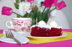 Afternoon Tea and Cake Royalty Free Stock Image