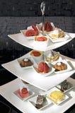 Afternoon tea dessert Stock Photos