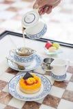 Afternoon tea 2. Afternoon tea dessert after breakfast hotel Stock Photo