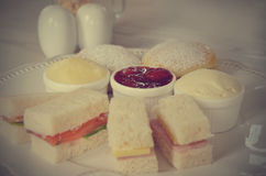 Afternoon tea (Filtered image processed vintage effect) Stock Photos