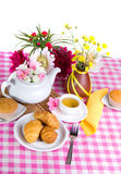 Afternoon tea with fresh baking Royalty Free Stock Photo