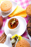Afternoon tea with fresh baking Royalty Free Stock Images