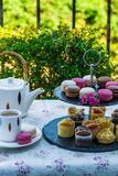 Afternoon tea in the garden Stock Photography