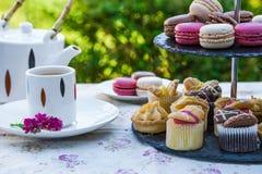 Afternoon tea in the garden Stock Photos