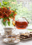 Afternoon tea in the garden Royalty Free Stock Image