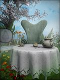 Afternoon tea in the garden Stock Image