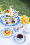 Afternoon Tea Hotel. Holiday Travel Afternoon Tea Hotel Stock Photography