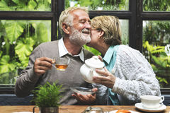 Afternoon Tea Leisure Casual Elderly Older Concept Stock Photo