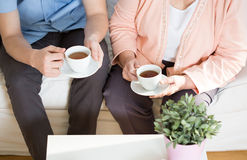 Afternoon tea at a nursing home Stock Photography