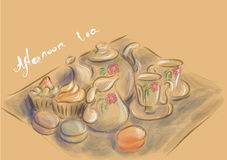 Afternoon tea party Stock Photography