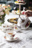 Afternoon tea pastries Royalty Free Stock Image