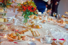 Afternoon Tea Service. Traditional English Luxury royalty free stock image