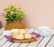 Afternoon tea set Stock Images