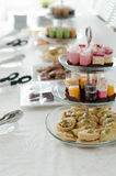 Afternoon tea. Snacks and afternoon tea, eat colorful Stock Photography
