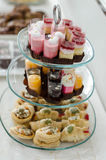 Afternoon tea. Snacks and afternoon tea, eat colorful Royalty Free Stock Images