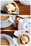 Afternoon Tea Triptych Royalty Free Stock Image