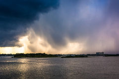 Afternoon thunderstorm over Port Orange, Florida. Stock Photography