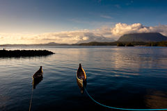 Afternoon of Tofino Harbor. This photo was taken at Tofino Harbor. It was about one hour before sunset stock image
