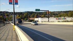 Afternoon Traffic on bridge stock video footage