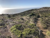 Afternoon Trail Walks at Pacifica California royalty free stock images