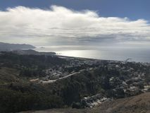 Afternoon Trail Walks at Pacifica California stock image