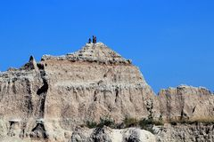 Afternoon view of Badlands National Park royalty free stock photo