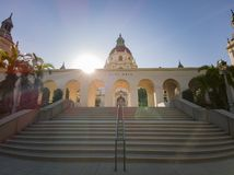 Afternoon view of The beautiful Pasadena City Hall at Los Angeles, California. United States stock image