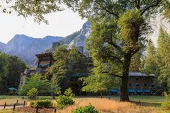 Afternoon view of the famous historical Ahwahnee hotel Royalty Free Stock Image
