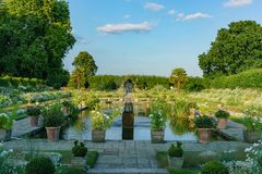 Afternoon view of the famous Princess Diana Memorial Garden. In Hyde Park, London, United Kingdom stock photo