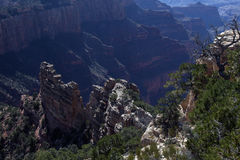 Afternoon View From The North Rim Of The Grand Canyon Stock Photos