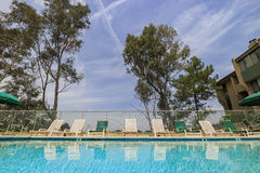 Afternoon view of a swimming pool Stock Image