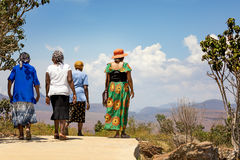 Afternoon walk in South Africa Stock Photo