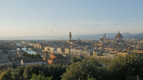 Afternoon wide view of the Duomo and Ponte Del Vecchio, Florence. Afternoon wide view of the Duomo and Ponte Del Vecchio in Florence from Piazzale Michelangelo stock footage