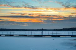Afternoon winter landscape. Royalty Free Stock Images