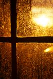 Afternoon Sun Back Lighting Stained Window Royalty Free Stock Photography