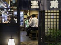 Afterwork i Shinjuku Arkivbild