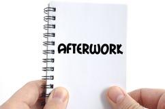 Afterwork teksta pojęcie Fotografia Royalty Free