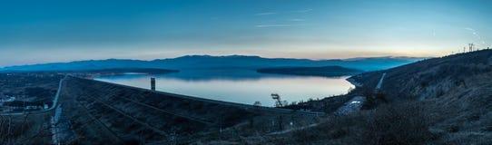 Aftet solnedgången Arkivbild