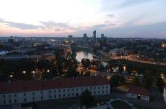 Afton över staden Royaltyfria Foton
