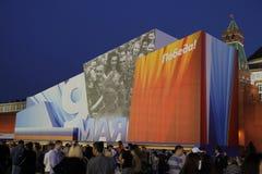 Afton av Victory Day i Moskva Royaltyfri Foto