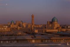 Afton Bukhara Arkivbilder