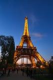 Afton Eiffel Royaltyfri Bild