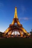 Afton Eiffel Arkivbilder
