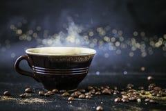 Afton för bra morgon för kaffe arkivfoto
