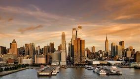 afton goda New York Arkivbilder