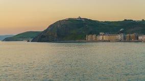Afton i Aberystwyth Arkivfoto