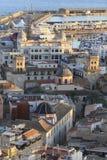 Afton i Alicante Arkivfoto