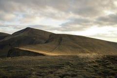 Afton i berg i höst Royaltyfri Fotografi